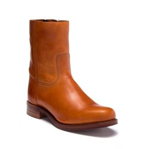 Frye Campus Men's Cognac Leather Boots Made in USA
